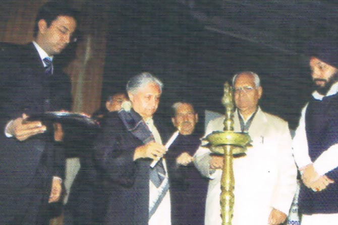 Sh. GP Gupta with Smt. Sheela Dixit (ex-CM, Delhi) and Sh. A.S Lovely (ex-Edu. Minister NCT Delhi).