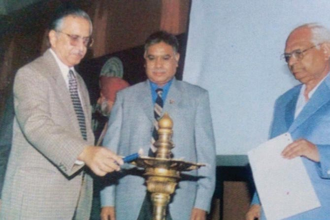 Sh. GP Gupta with Sh. SK Tripathi (ex-Edu. Secretary of India)