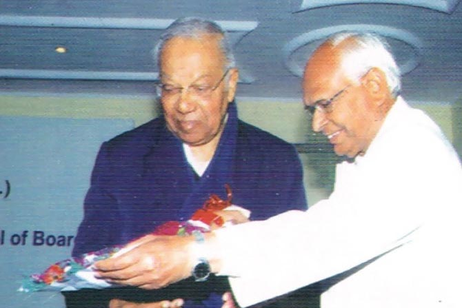 Sh. GP Gupta with Ex-Chairman of CBSE Fr. TvKunnukul