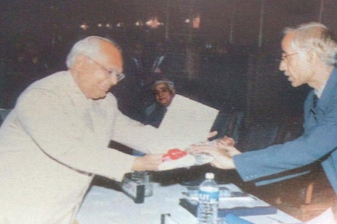 GP Gupta with Sh. Ashok Ganguly (ex-Chairman CBSE)