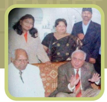 Sh. GP Gupta and Society Members with Sh. Kapil Sibbal (ex- Union Minister MHRD Govt. of India)